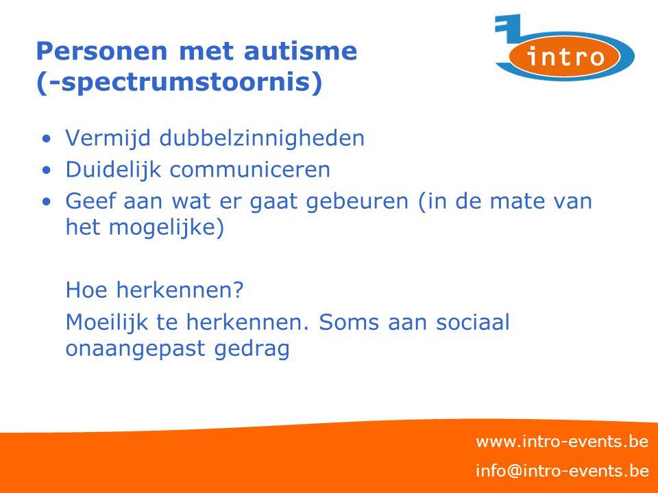 Personen met autisme (-spectrumstoornis)