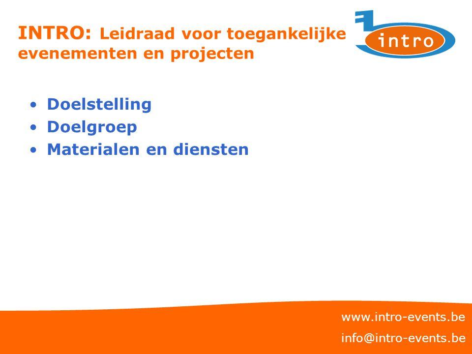 INTRO: Leidraad voor toegankelijke evenementen en projecten