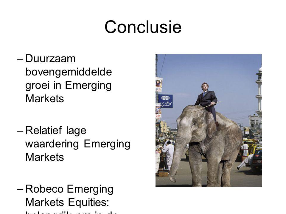 Conclusie Duurzaam bovengemiddelde groei in Emerging Markets