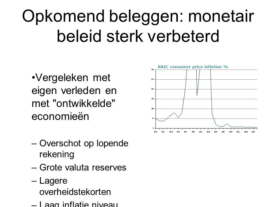 Opkomend beleggen: monetair beleid sterk verbeterd