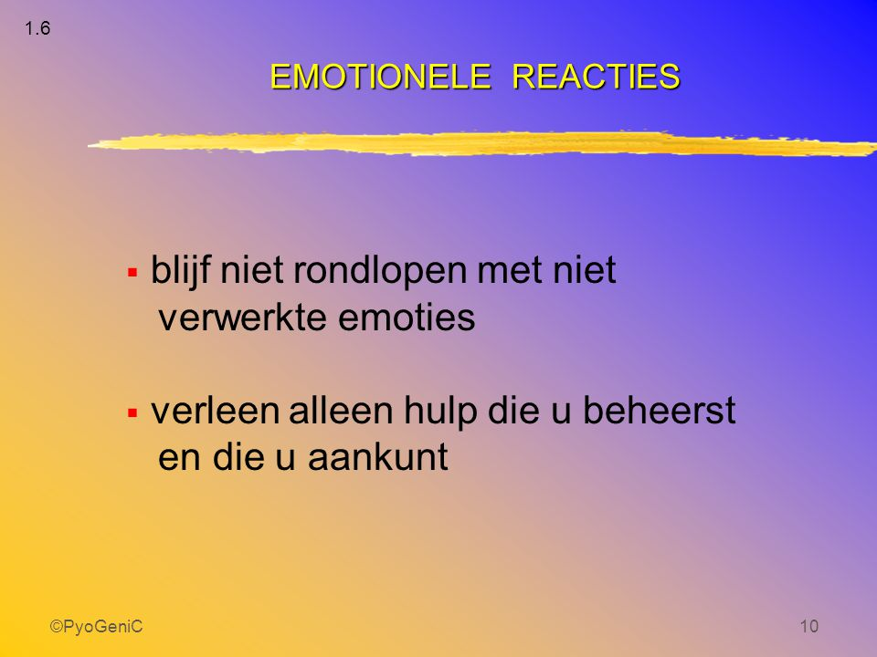 blijf niet rondlopen met niet verwerkte emoties