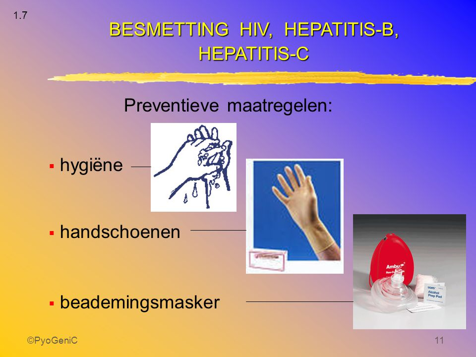 BESMETTING HIV, HEPATITIS-B,