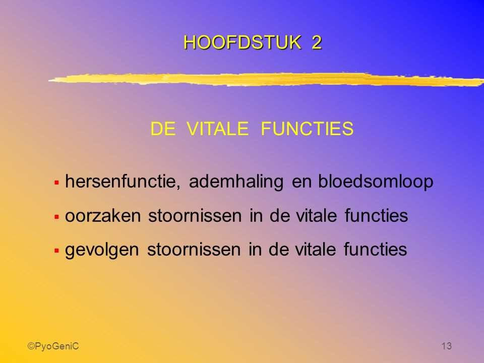 hersenfunctie, ademhaling en bloedsomloop