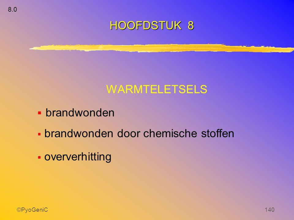 brandwonden HOOFDSTUK 8 WARMTELETSELS