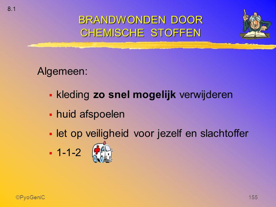 BRANDWONDEN DOOR CHEMISCHE STOFFEN