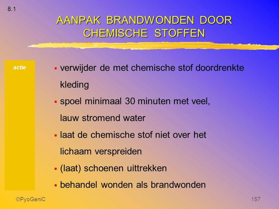 AANPAK BRANDWONDEN DOOR CHEMISCHE STOFFEN