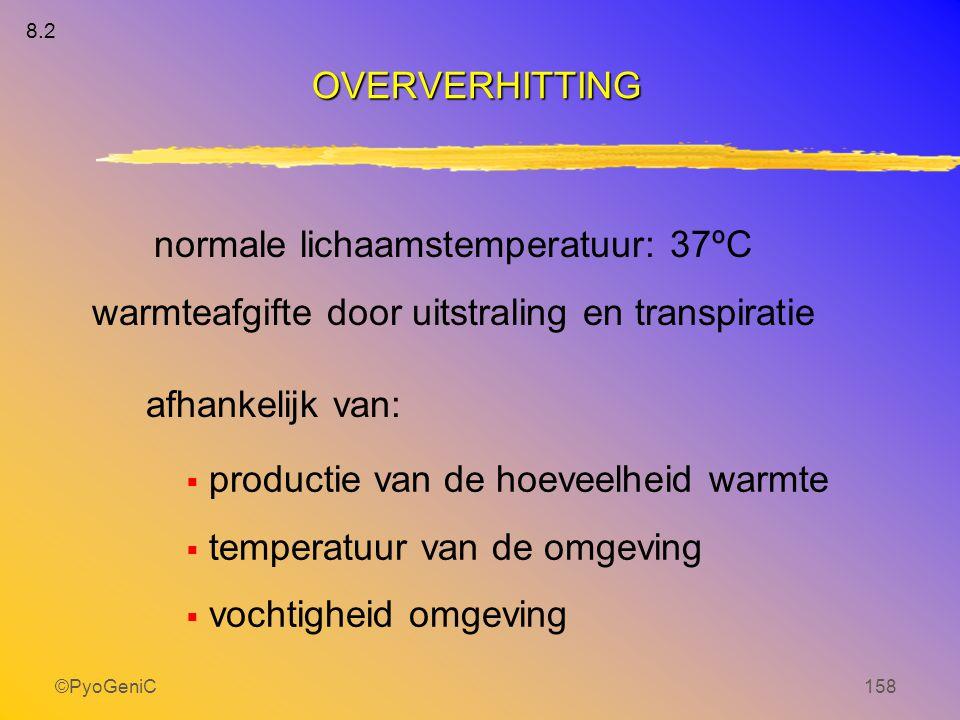 normale lichaamstemperatuur: 37ºC