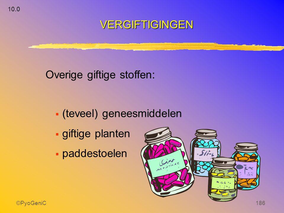Overige giftige stoffen: