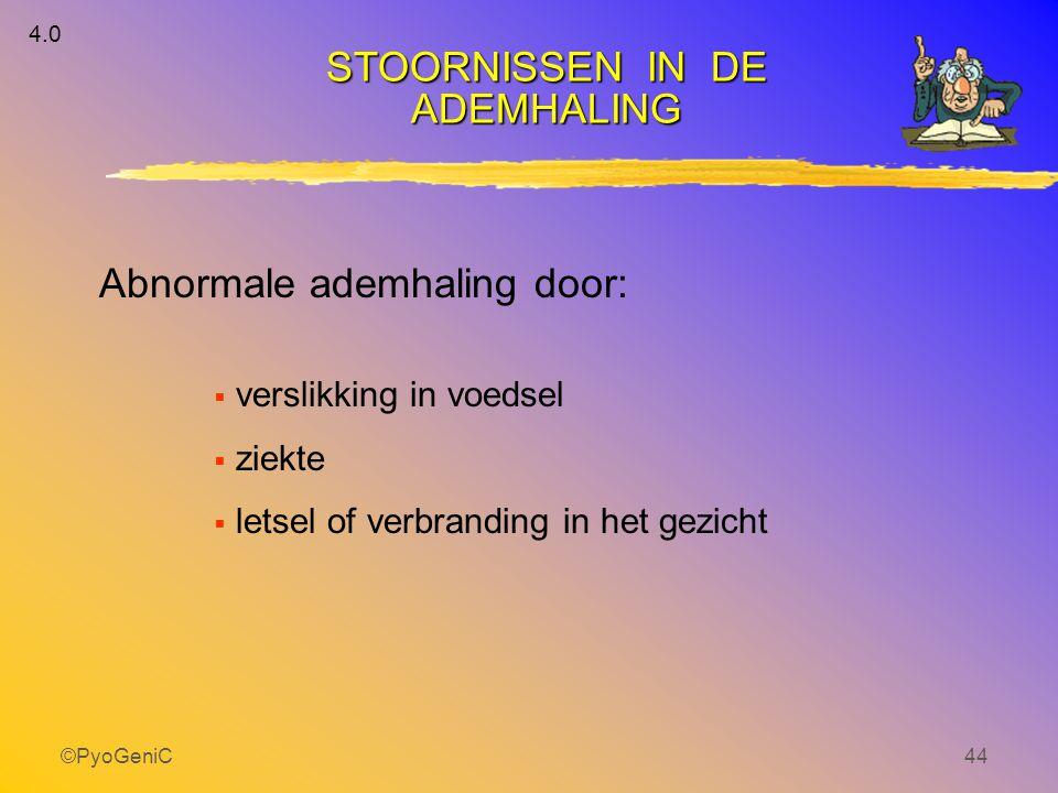 Abnormale ademhaling door: