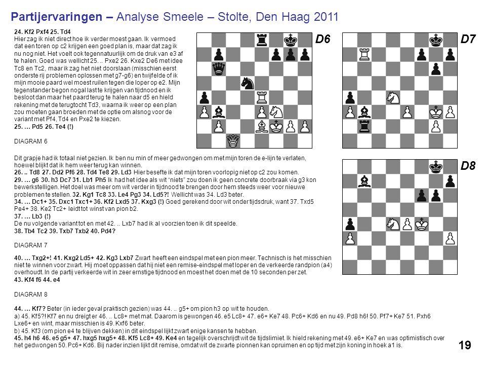 Partijervaringen – Analyse Smeele – Stolte, Den Haag 2011