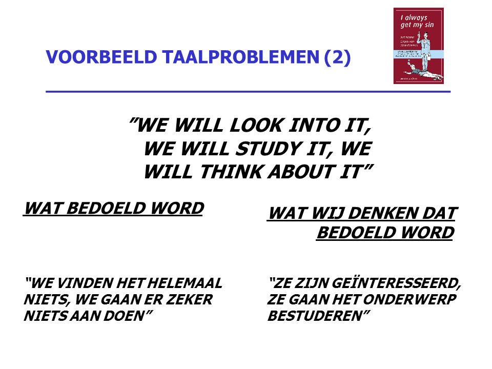 VOORBEELD TAALPROBLEMEN (2) _________________________________