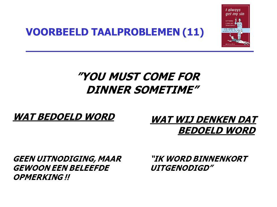 VOORBEELD TAALPROBLEMEN (11) _________________________________