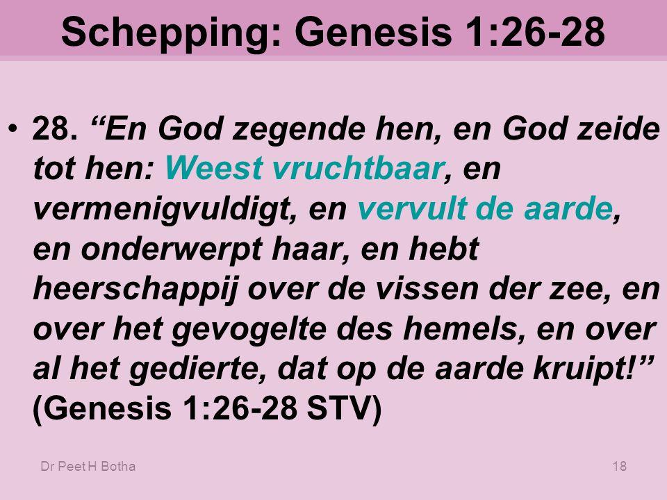 Schepping: Genesis 1:26-28