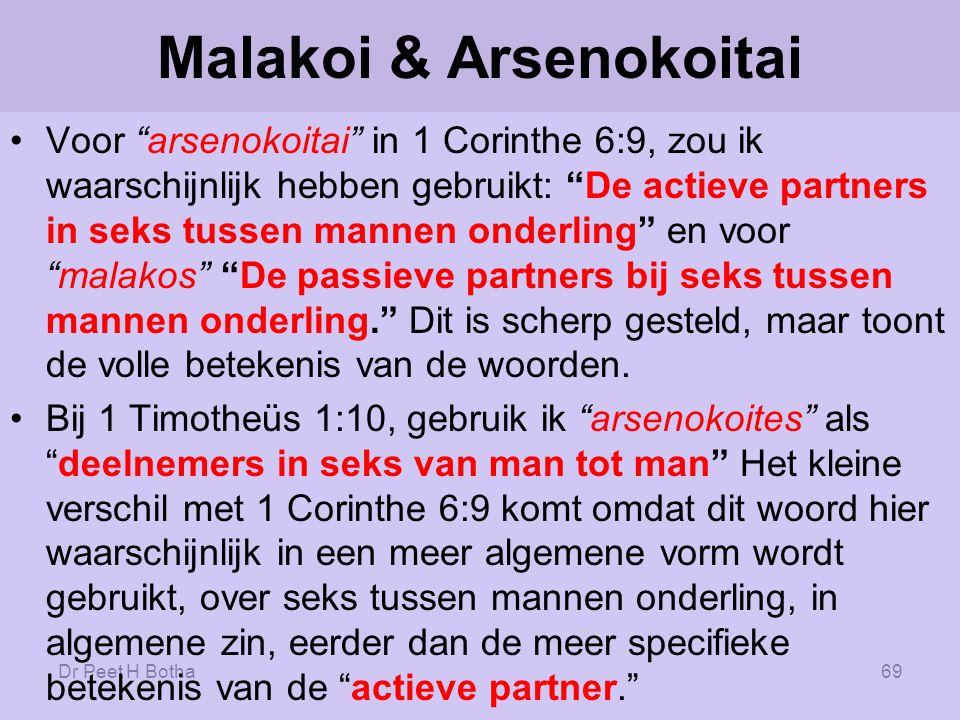 Malakoi & Arsenokoitai