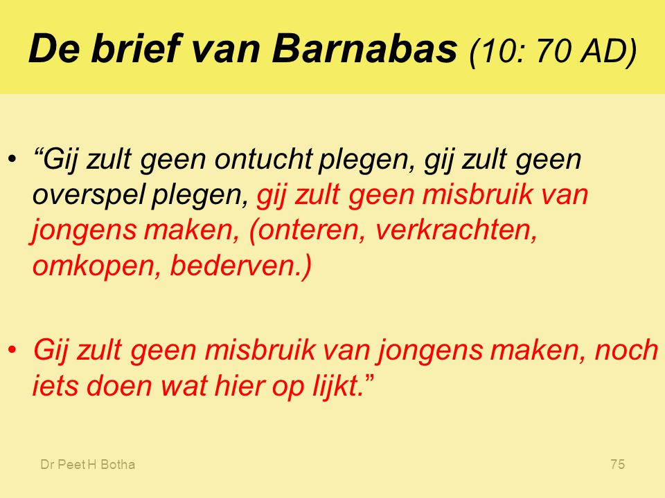 De brief van Barnabas (10: 70 AD)