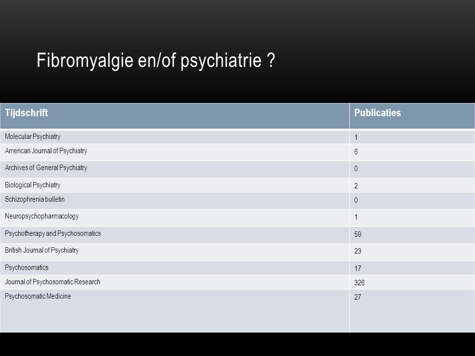 Fibromyalgie en/of psychiatrie