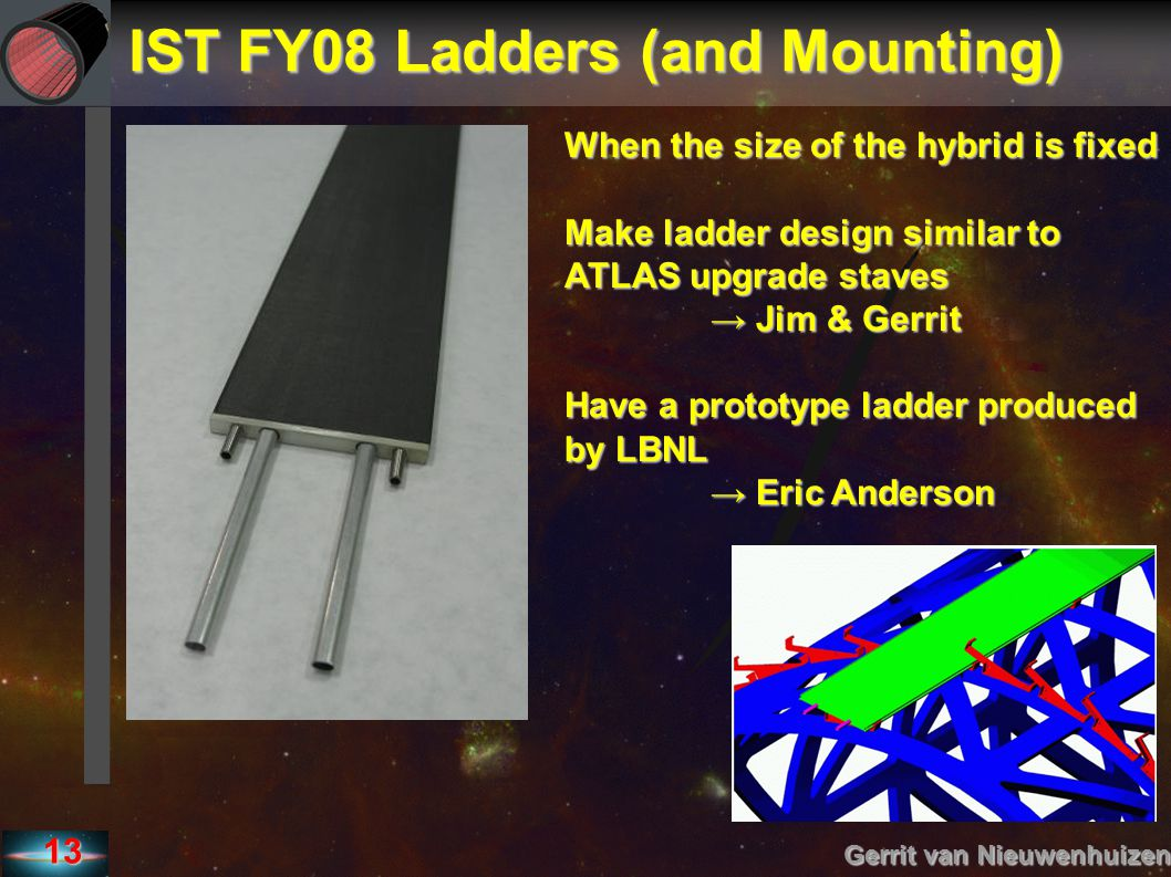 IST FY08 Ladders (and Mounting)‏