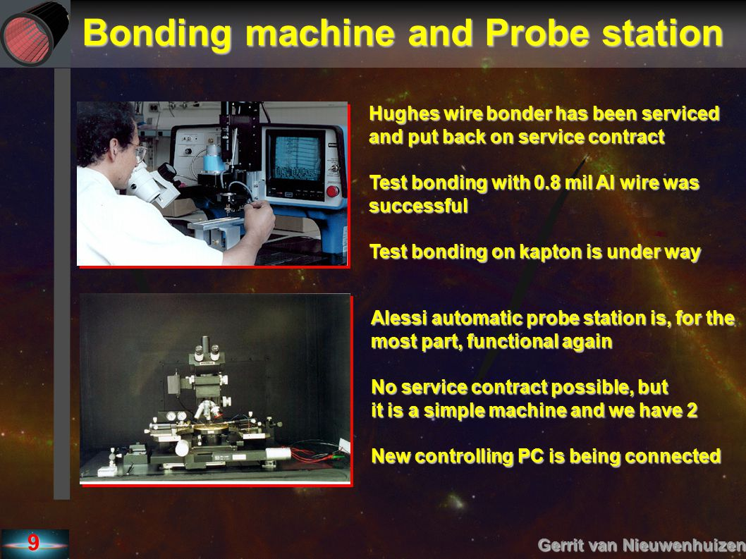 Bonding machine and Probe station