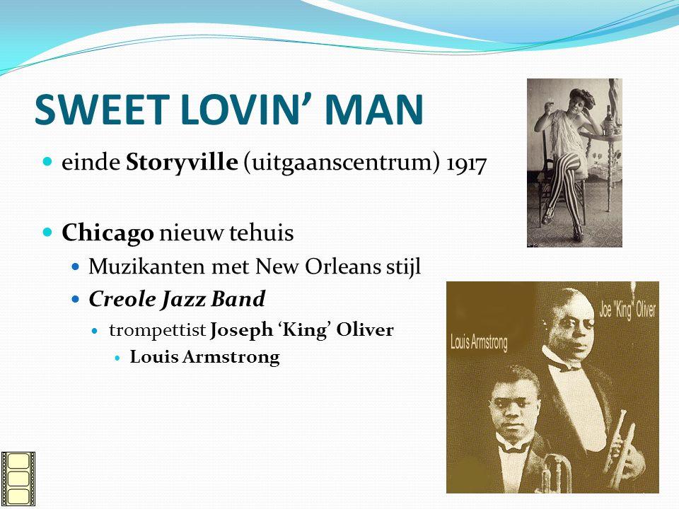 SWEET LOVIN' MAN einde Storyville (uitgaanscentrum) 1917