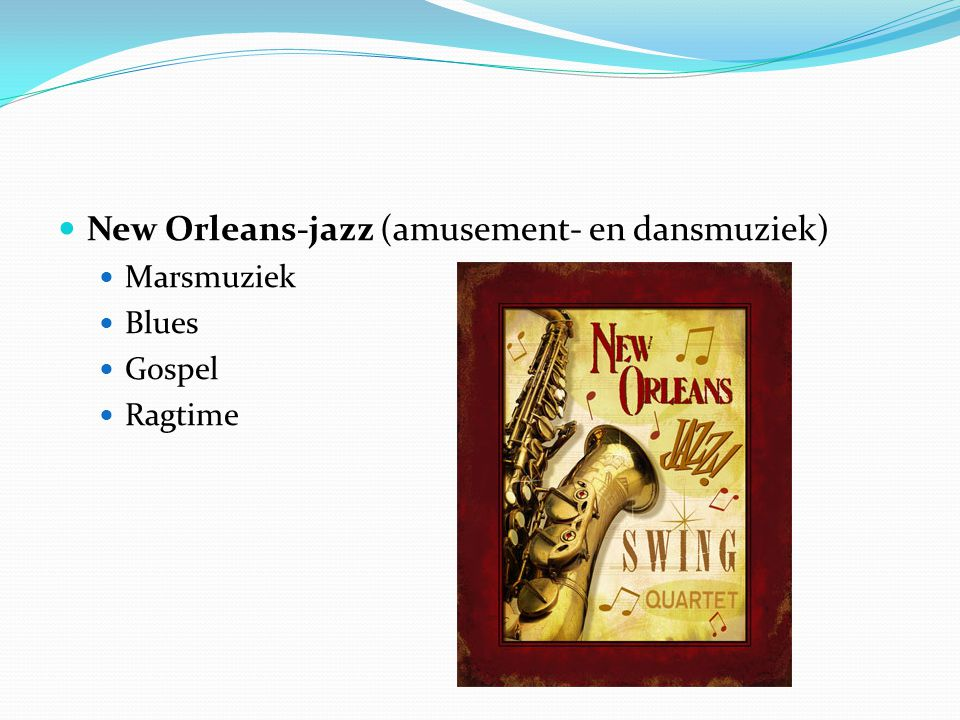 New Orleans-jazz (amusement- en dansmuziek)