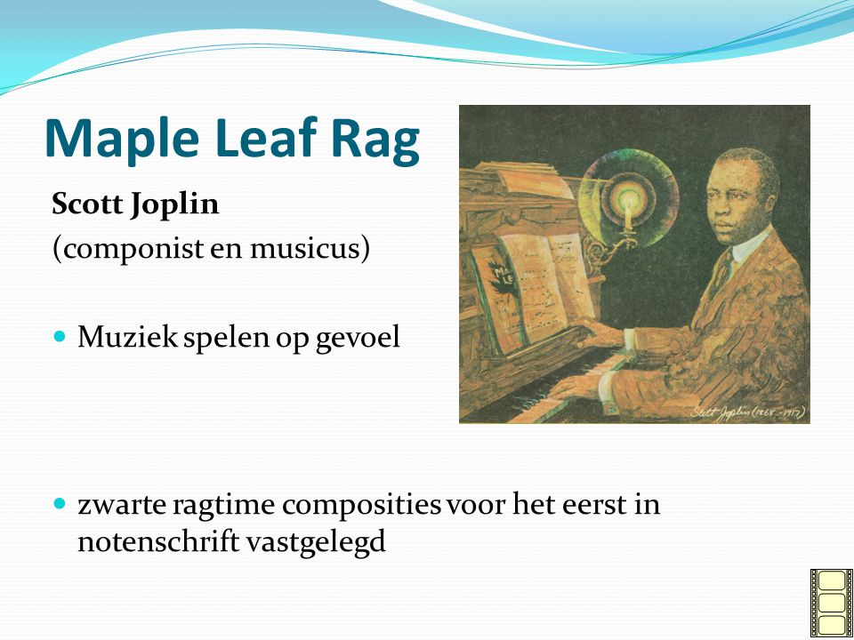 Maple Leaf Rag Scott Joplin (componist en musicus)