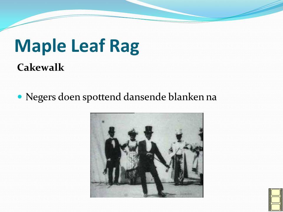 Maple Leaf Rag Cakewalk Negers doen spottend dansende blanken na
