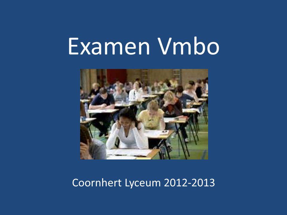 Examen Vmbo Coornhert Lyceum 2012-2013