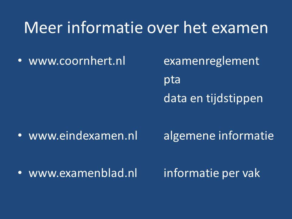 Meer informatie over het examen
