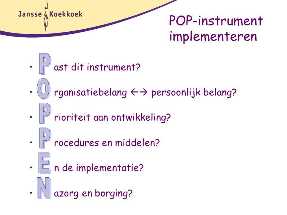 POP-instrument implementeren