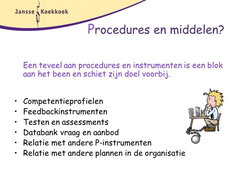 Procedures en middelen
