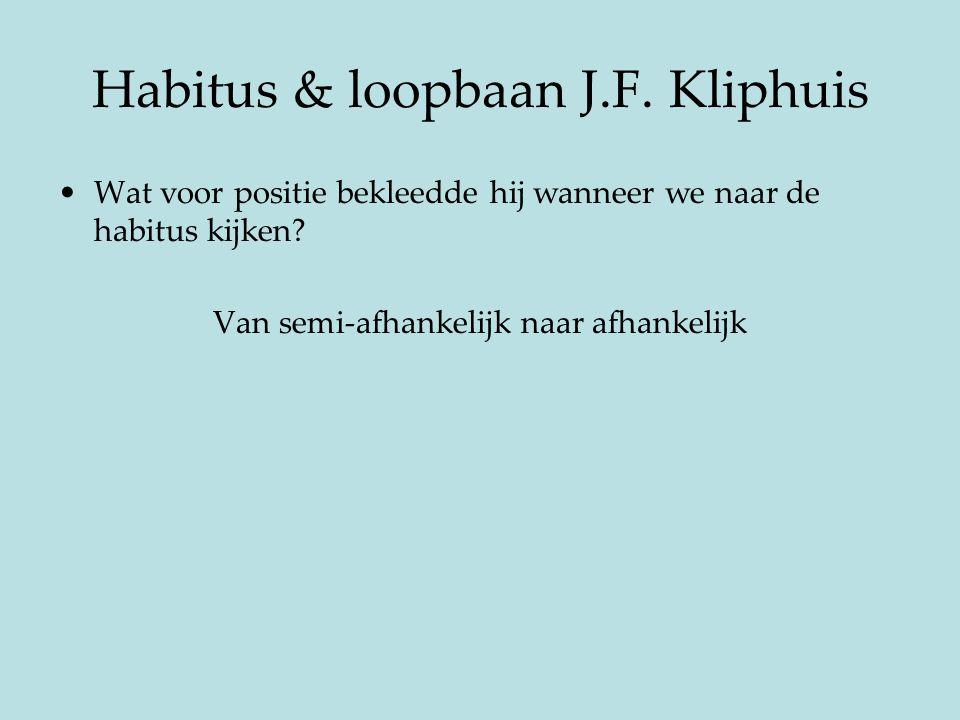 Habitus & loopbaan J.F. Kliphuis