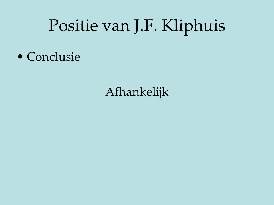 Positie van J.F. Kliphuis