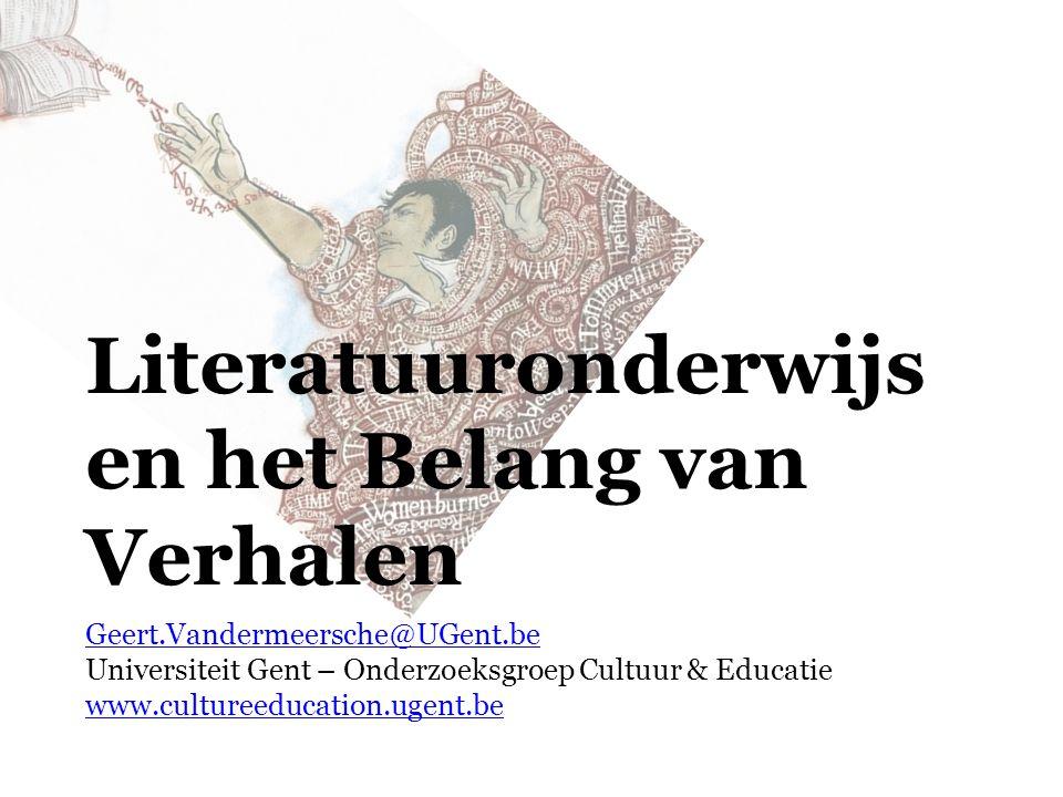 Literatuuronderwijs en het Belang van Verhalen