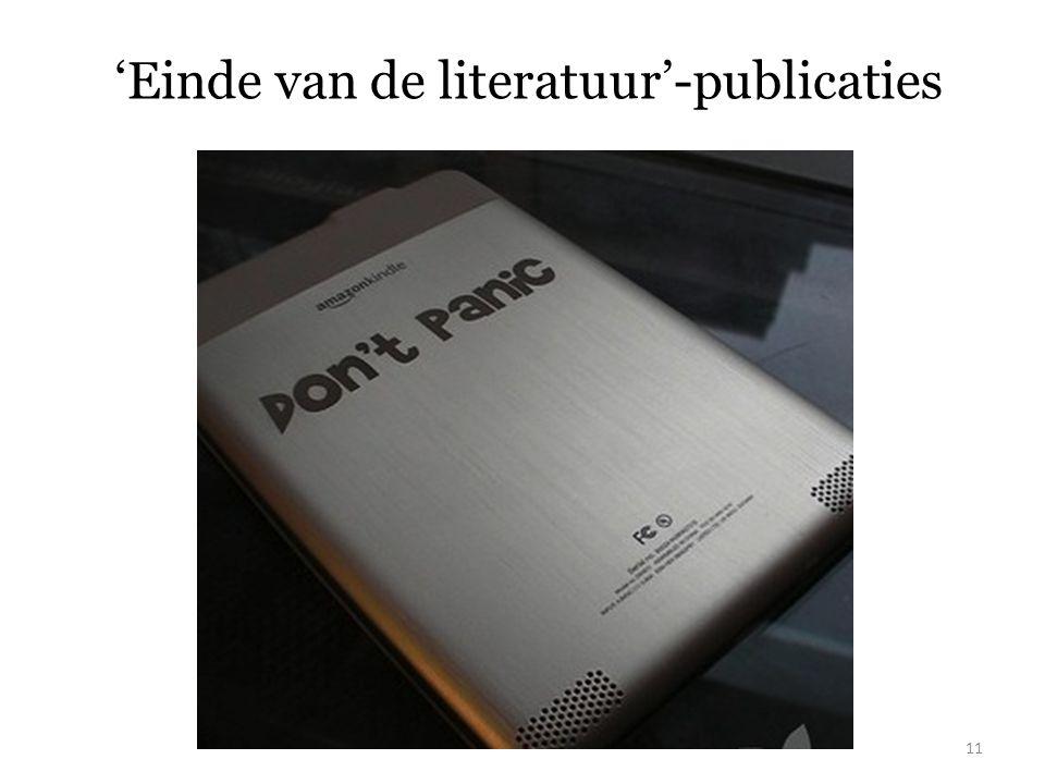 'Einde van de literatuur'-publicaties