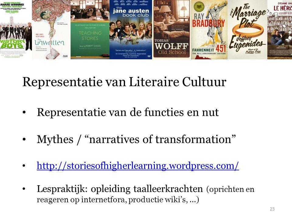 Representatie van Literaire Cultuur
