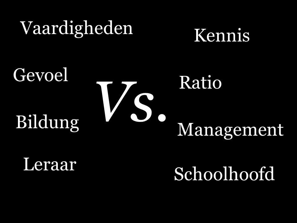 Vs. Vaardigheden Kennis Gevoel Ratio Bildung Management Leraar