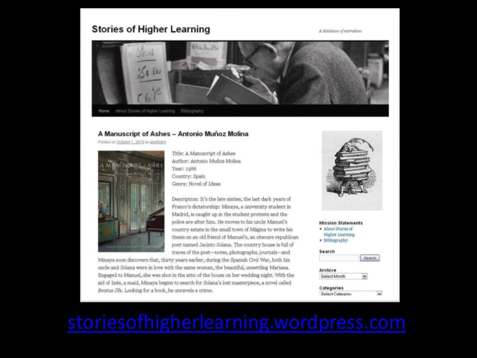 Verzameling bildungsromans, schoolromans, campus novels