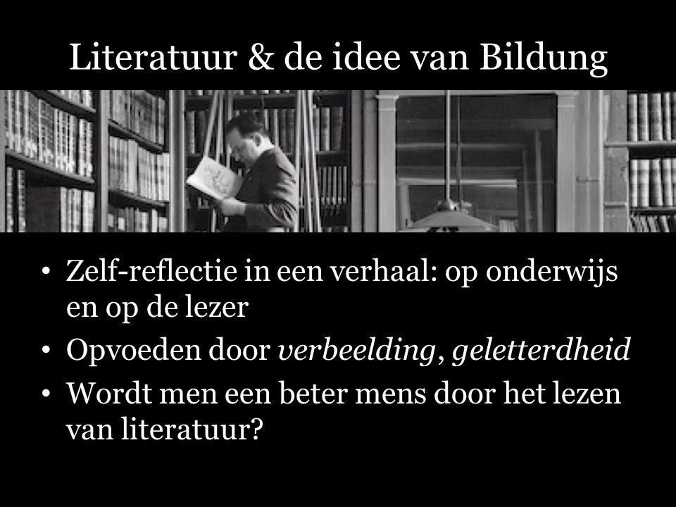 Literatuur & de idee van Bildung