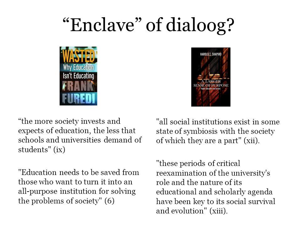 Enclave of dialoog