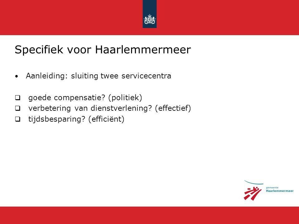 Specifiek voor Haarlemmermeer