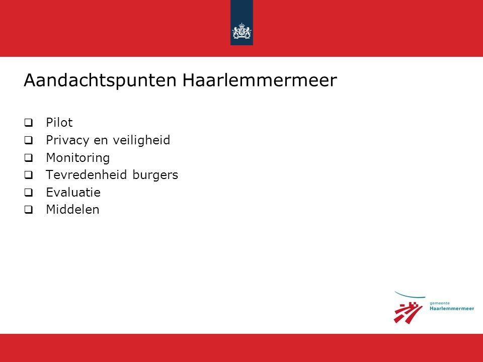 Aandachtspunten Haarlemmermeer