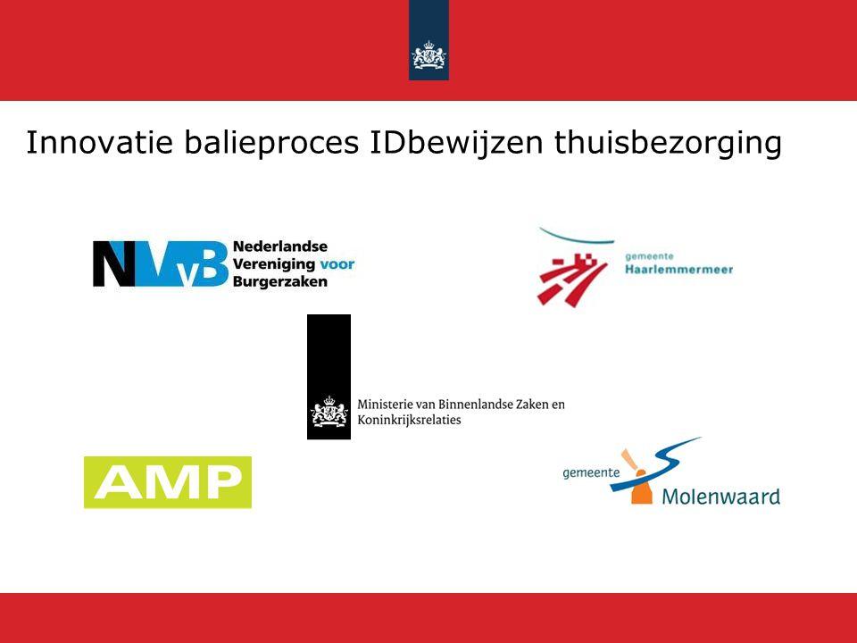 Innovatie balieproces IDbewijzen thuisbezorging