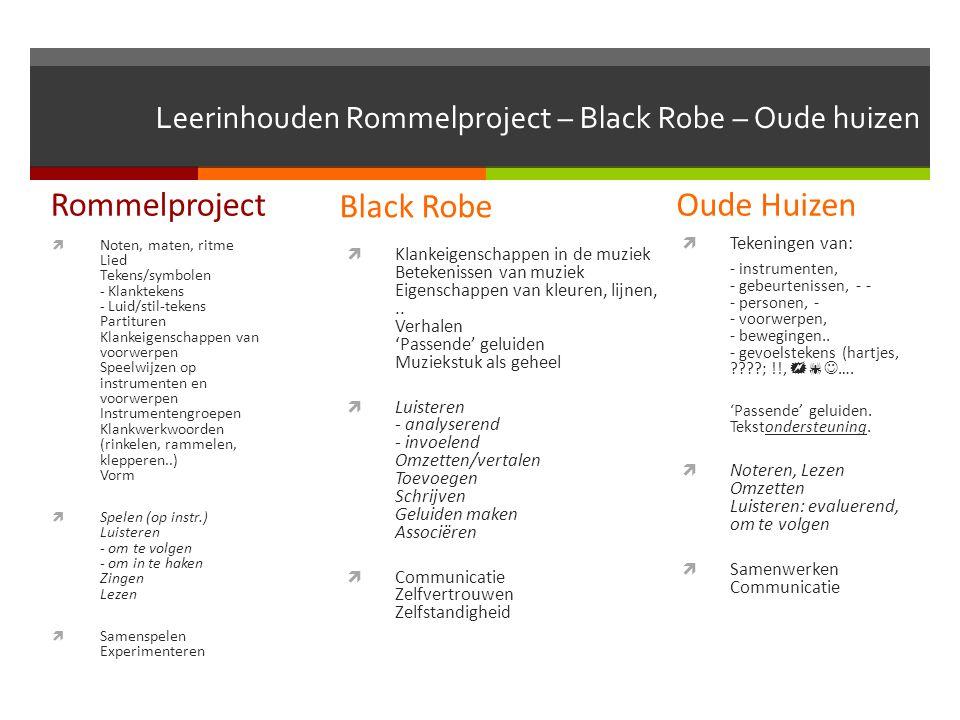 Leerinhouden Rommelproject – Black Robe – Oude huizen