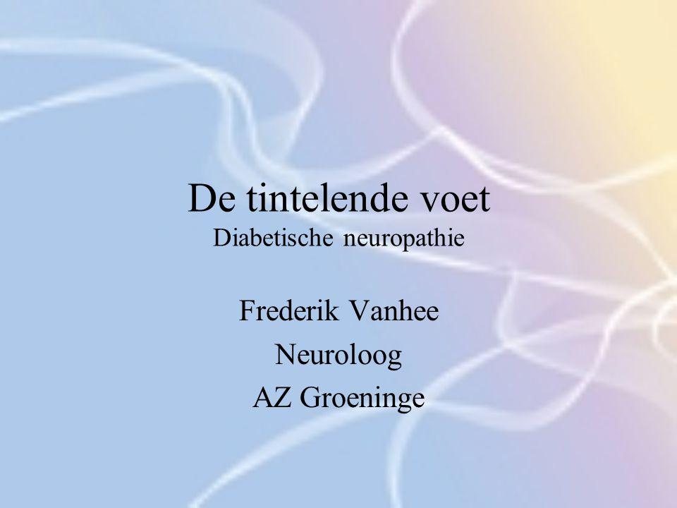 De tintelende voet Diabetische neuropathie