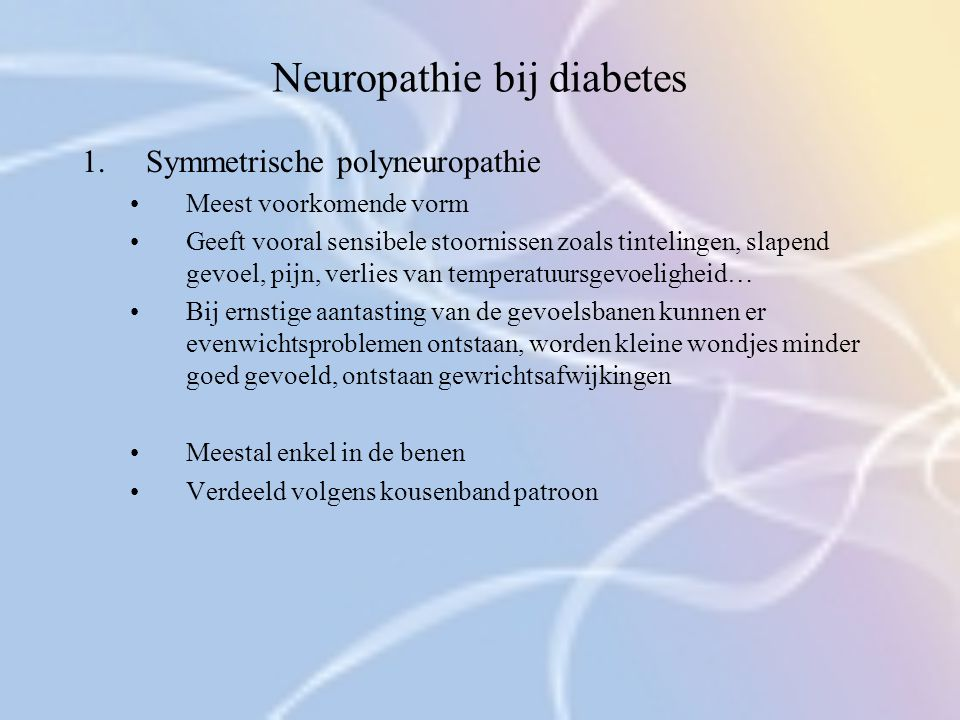 Neuropathie bij diabetes