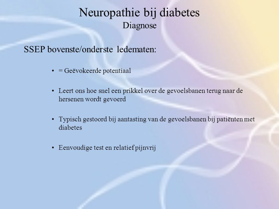 Neuropathie bij diabetes Diagnose