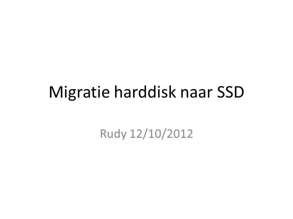 Migratie harddisk naar SSD