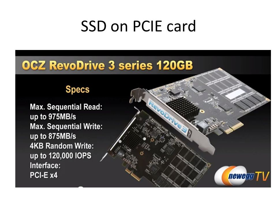 SSD on PCIE card