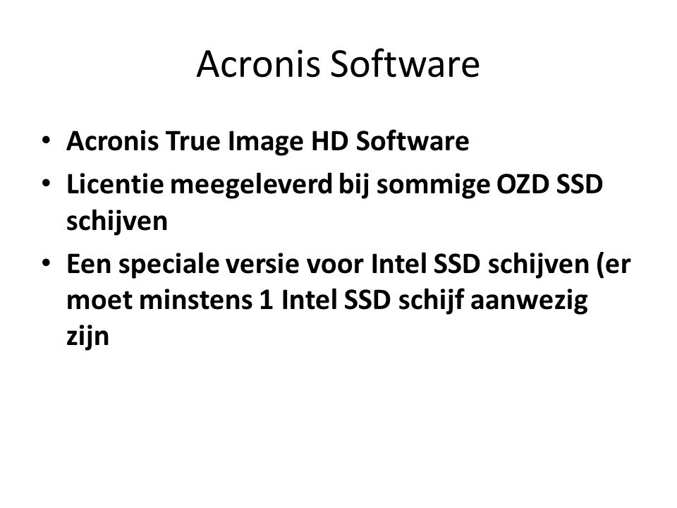 Acronis Software Acronis True Image HD Software