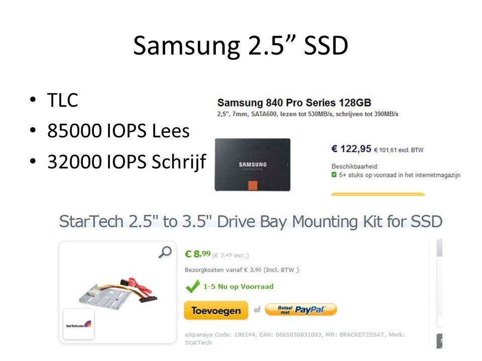 Samsung 2.5 SSD TLC 85000 IOPS Lees 32000 IOPS Schrijf